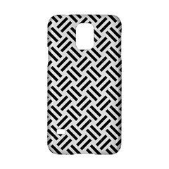 Woven2 Black Marble & White Linen Samsung Galaxy S5 Hardshell Case  by trendistuff