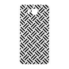 Woven2 Black Marble & White Linen Samsung Galaxy Alpha Hardshell Back Case by trendistuff