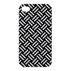 Woven2 Black Marble & White Linen (r) Apple Iphone 4/4s Hardshell Case by trendistuff