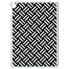 Woven2 Black Marble & White Linen (r) Apple Ipad Pro 9 7   White Seamless Case by trendistuff