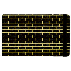 Brick1 Black Marble & Yellow Colored Pencil (r) Apple Ipad 2 Flip Case by trendistuff