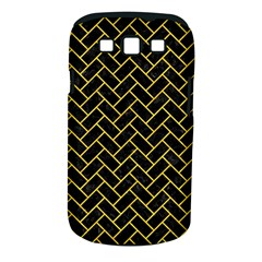 Brick2 Black Marble & Yellow Colored Pencil (r) Samsung Galaxy S Iii Classic Hardshell Case (pc+silicone) by trendistuff