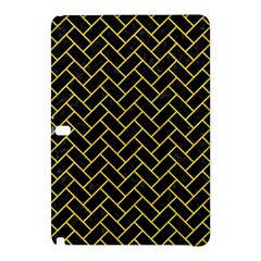 Brick2 Black Marble & Yellow Colored Pencil (r) Samsung Galaxy Tab Pro 10 1 Hardshell Case by trendistuff