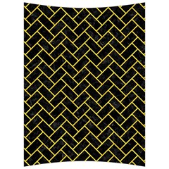 Brick2 Black Marble & Yellow Colored Pencil (r) Back Support Cushion by trendistuff