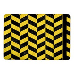 Chevron1 Black Marble & Yellow Colored Pencil Samsung Galaxy Tab Pro 10 1  Flip Case by trendistuff