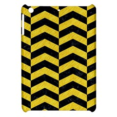 Chevron2 Black Marble & Yellow Colored Pencil Apple Ipad Mini Hardshell Case by trendistuff