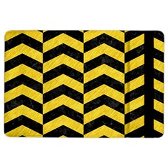 Chevron2 Black Marble & Yellow Colored Pencil Ipad Air 2 Flip by trendistuff