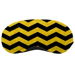 Chevron3 Black Marble & Yellow Colored Pencil Sleeping Masks by trendistuff