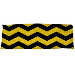 Chevron3 Black Marble & Yellow Colored Pencil Body Pillow Case Dakimakura (two Sides) by trendistuff