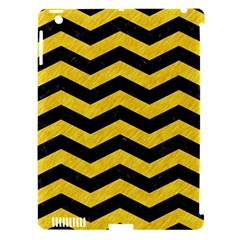 Chevron3 Black Marble & Yellow Colored Pencil Apple Ipad 3/4 Hardshell Case (compatible With Smart Cover) by trendistuff