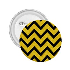 Chevron9 Black Marble & Yellow Colored Pencil 2 25  Buttons by trendistuff