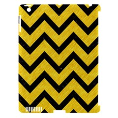 Chevron9 Black Marble & Yellow Colored Pencil Apple Ipad 3/4 Hardshell Case (compatible With Smart Cover) by trendistuff