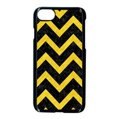 Chevron9 Black Marble & Yellow Colored Pencil (r) Apple Iphone 8 Seamless Case (black)