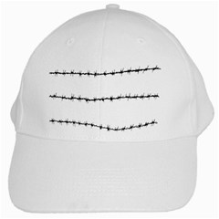 Barbed Wire Black White Cap by Mariart