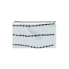 Barbed Wire Black Cosmetic Bag (small)