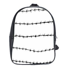 Barbed Wire Black School Bag (large)