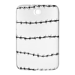 Barbed Wire Black Samsung Galaxy Note 8 0 N5100 Hardshell Case  by Mariart