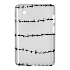 Barbed Wire Black Samsung Galaxy Tab 2 (7 ) P3100 Hardshell Case  by Mariart
