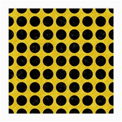 Circles1 Black Marble & Yellow Colored Pencil Medium Glasses Cloth (2 Side) by trendistuff