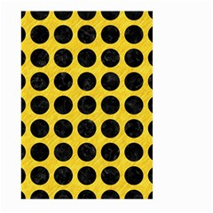 Circles1 Black Marble & Yellow Colored Pencil Large Garden Flag (two Sides) by trendistuff