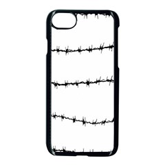 Barbed Wire Black Apple Iphone 7 Seamless Case (black) by Mariart