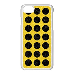 Circles1 Black Marble & Yellow Colored Pencil Apple Iphone 8 Seamless Case (white)