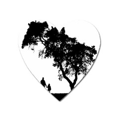 Black Father Daughter Natural Hill Heart Magnet by Mariart