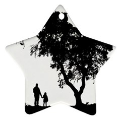 Black Father Daughter Natural Hill Star Ornament (two Sides) by Mariart