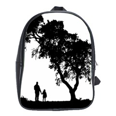 Black Father Daughter Natural Hill School Bag (large)