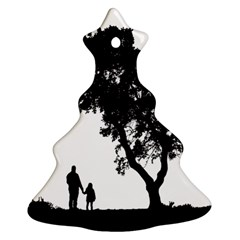 Black Father Daughter Natural Hill Ornament (christmas Tree)  by Mariart