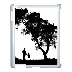Black Father Daughter Natural Hill Apple Ipad 3/4 Case (white) by Mariart