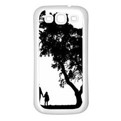 Black Father Daughter Natural Hill Samsung Galaxy S3 Back Case (white) by Mariart