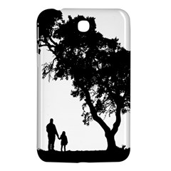 Black Father Daughter Natural Hill Samsung Galaxy Tab 3 (7 ) P3200 Hardshell Case  by Mariart