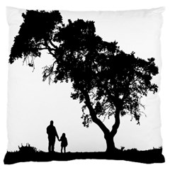 Black Father Daughter Natural Hill Standard Flano Cushion Case (one Side) by Mariart