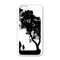 Black Father Daughter Natural Hill Apple Iphone 6/6s White Enamel Case by Mariart