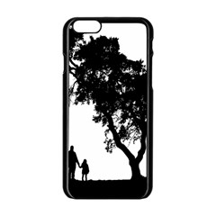 Black Father Daughter Natural Hill Apple Iphone 6/6s Black Enamel Case