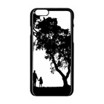 Black Father Daughter Natural Hill Apple iPhone 6/6S Black Enamel Case Front