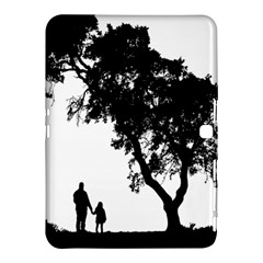 Black Father Daughter Natural Hill Samsung Galaxy Tab 4 (10 1 ) Hardshell Case  by Mariart