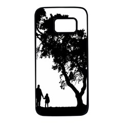 Black Father Daughter Natural Hill Samsung Galaxy S7 Black Seamless Case by Mariart