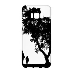 Black Father Daughter Natural Hill Samsung Galaxy S8 Hardshell Case  by Mariart