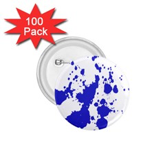 Blue Plaint Splatter 1 75  Buttons (100 Pack)  by Mariart