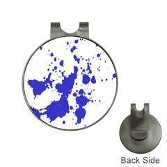 Blue Plaint Splatter Hat Clips With Golf Markers by Mariart