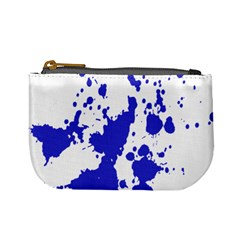 Blue Plaint Splatter Mini Coin Purses