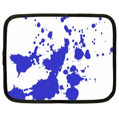 Blue Plaint Splatter Netbook Case (xl)