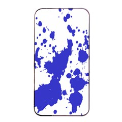 Blue Plaint Splatter Apple Iphone 4/4s Seamless Case (black) by Mariart