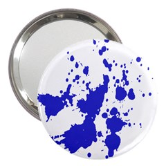 Blue Plaint Splatter 3  Handbag Mirrors