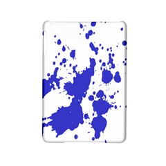 Blue Plaint Splatter Ipad Mini 2 Hardshell Cases by Mariart