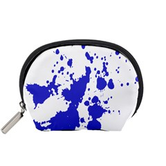 Blue Plaint Splatter Accessory Pouches (small)  by Mariart