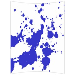 Blue Plaint Splatter Back Support Cushion by Mariart
