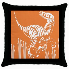 Animals Dinosaur Ancient Times Throw Pillow Case (black)